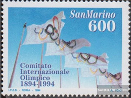 San Marino 1568 (complete Issue) Unmounted Mint / Never Hinged 1994 100Jahre IOC - San Marino