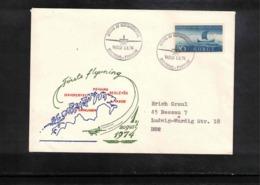 Norway 1974 Interesting First Flight Cover - Norwegen