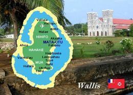 Wallis And Futuna Wallis Island Map New Postcard - Wallis Y Futuna