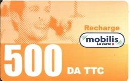 CARTE-PREPAYEE-ALGERIE-RECHARGE MOBILIS -500DA TTC-Validité 31/12/06-BE-RARE - Algeria