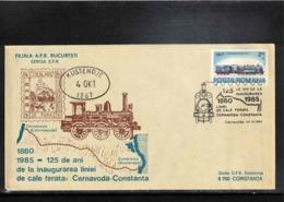 Romania 1985 Railways Line Cernavoda - Constanta Interesting Cover - Cartas