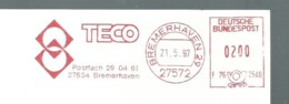 EMA AFS METER STAMP FREISTEMPEL - GERMANY  - TECO MACHINE TOOLS - Fábricas Y Industrias