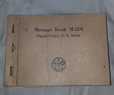 Message Book M-210 US Army WW2 - 1939-45