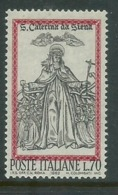 ITALIA 1962 SANTA CATERINA DA SIENA COLORI FUORI REGISTRO NUOVO ** - 6. 1946-.. Repubblica