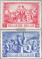 Belgium 708-709 (complete Issue) Unmounted Mint / Never Hinged 1945 War Victim - Belgium
