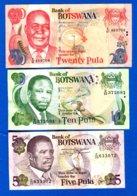 Botswana  3  Billets - Botswana