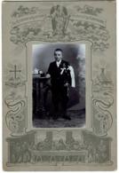 Souvenir De Première Communion - Jeune Garçon Avec Missel & Chapelet - 2 Scans - Ancianas (antes De 1900)