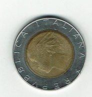 Italien 1989 // 500 Liere // Umlaufmünze - 1946-…: Republik