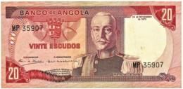 Angola - 20 Escudos - 24.11.1972 - Pick 99 - Série MP - Marechal Carmona - PORTUGAL - Angola