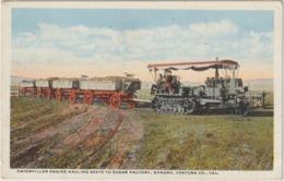 CPA  TRACTEUR AMERICAIN  CATERPILLAR ENGINE - Tracteurs
