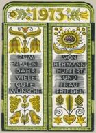 Nieuwjaarskaart 1973 Hermann Huffert (1904-1995) - Estampes & Gravures