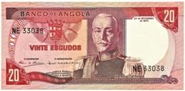 Angola - 20 Escudos - 24.11.1972 - Pick 99 - Série NE - Marechal Carmona - PORTUGAL - Angola