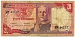 Angola - 20 Escudos - 24.11.1972 - Pick 99 - Série OA - Marechal Carmona - PORTUGAL - Angola