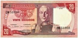 Angola - 20 Escudos - 24.11.1972 - Pick 99 - Série OM - Marechal Carmona - PORTUGAL - Angola