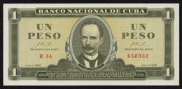 CUBA 1 PESO 1966 PICK 100 UNC - Kuba