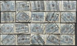 _9Sp-968:restje 20zegels: TR23 ...om Verder Uit Te Zoeken. - 1895-1913