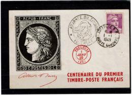 LCTN58/2 - FRANCE CENTENAIRE DU 1ER TIMBRE POSTE - Stamps On Stamps