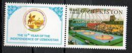 Uzbekistan 2001 - Anniversario Indipendenza Anniversary  Independence Lotta Kurash, Wrestling Kurash MNH ** - Uzbekistán