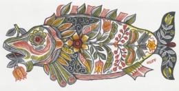 Nieuwjaarskaart 1982 Hermann Huffert (1904-1995) - Vis Fish Poison - Estampes & Gravures