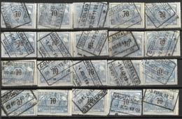 _9Sp-967:restje 20zegels: TR23 ...om Verder Uit Te Zoeken. - 1895-1913