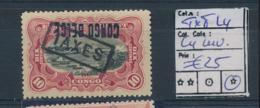 BELGIAN CONGO 1909 ISSUECOB TX8 L4 OVERPRINT CONGO BELGE INVERTED LH - Belgian Congo
