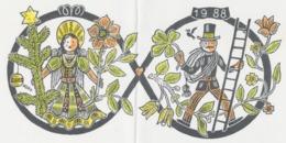 Nieuwjaarskaart 1988 Hermann Huffert (1904-1995) - Estampes & Gravures