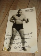 Belle Carte Photo CHARLES RIGOULOT - Wrestling
