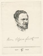 Kleingrafiek Ets Heinrich Ilgenfritz (1899-1969) Selbstporträt, 1949 - Prenten & Gravure