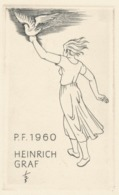Kleingrafiek P.F. 1960 Heinrich Graf - Heinrich Ilgenfritz (1899-1969) Ets - Prenten & Gravure