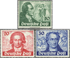 Berlin (West) 61-63 Tested (complete Issue) Unmounted Mint / Never Hinged 1949 Goethe - [5] Berlin