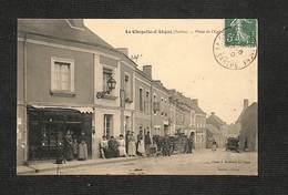 72 - LA CHAPELLE D'ALIGNÉ - Place De L'Église - 1910 ,#72/001 - Francia