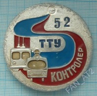 USSR / Badge / Soviet Union / UKRAINE Dnepropetrovsk. Controller Tram - Trolleybus Office. Tramway. Trolley Bus 1970s - Transportation