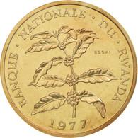 Monnaie, Rwanda, 5 Francs, 1977, ESSAI, FDC, Bronze, KM:E5 - Rwanda