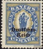 Tedesco Empire 130 MNH 1920 Baviera-Addio - Nuovi