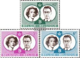 Belgium 1228-1230 (complete Issue) Unmounted Mint / Never Hinged 1960 Royal Wedding - Belgium
