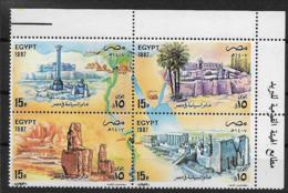 EGYPTE  Un Bloc De 4 Timbres Neufs** émis Se Tenant (haut De Feuille) Daté 1987 N° Et Cote Inconnus - Nuovi