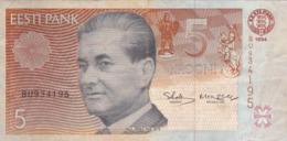 Estonie - Billet De 5 Krooni - Paul Keres - 1994 - Estland