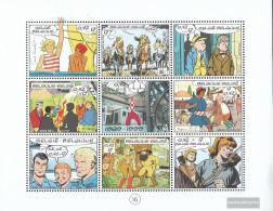 Belgium 2893-2901 Sheetlet (complete Issue) Unmounted Mint / Never Hinged 1999 Comics - Belgium