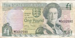 Jersey - Billet De 1 Pound - Elizabeth II - Non Daté - Eiland Man/ Anglo-Normandische Eilanden