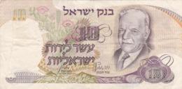 Israël - Billet De 10 Lirot - Haïm Nahman Bialik - 1968 - P35 - Israel