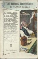 """3639 CPA """" Les Nouveaux Commandements Du Fumeur """" ( Tabac Pipe ) - Pipes & Accessoires"""