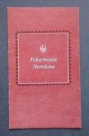 POLAND, FILHARMONIA NARODOWA KOGAN VIOLIN RECITAL PROGRAM 1980 - Programs