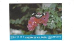 VACANCES AU TOGO  PAPILLON SUR UNE FLEUR DE BOUGAINVILLE ****   RARE    A SAISIR **** - Togo
