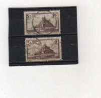 FRANCE    1929-31  Y.T. N° 260  260a  Oblitéré - Oblitérés