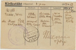 78-78 Estonia Postal History - Estland