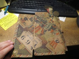 J'AI JAMAIS VU ,,,medaille Avec Insigne Et Tissus ,bleu-blanc-rouge ,plus Document Papier Mauvais Etat - Otros