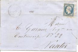 ILLE ET VILLAINE (34) LSC De MARTIGNE-FERCHAUD (PERLE )  PC  1902  Sur NAP Pour NANTES - Marcophilie (Lettres)
