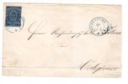 Lettre Allemagne Oldenburg Oldenbourg 1860 N°6 Cachet Depart 18 Juillet Arrivée Ovelgonne 19 Juillet Cote 135€ - Oldenbourg