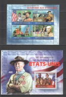 TG1275 2010 TOGO TOGOLAISE ORGANIZATIONS SCOUTING 100TH ANNIVERSARY IN USA 1KB+1BL MNH - Altri