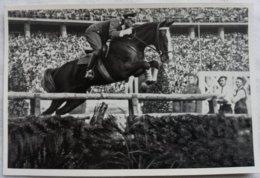 Foto Cromo Olimpiada De Berlín. Nº 186. Equitación Salto. Kurt Hasse. 1936. Alemania. Pre II Guerra Mundial. Gruppe 61. - Tarjetas